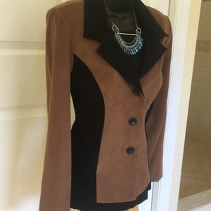 VTG Faux Suede Blazer by Leslie Fay